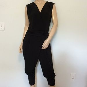 Black 1PC Michael Kors medium Med M pant jumpsuit